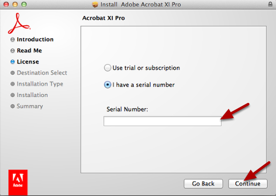 find adobe acrobat 11 serial number